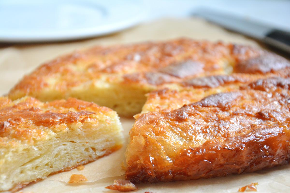Rezept für Kouign amann ein französischer Butterkuchen aus der Bretagne