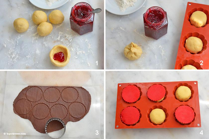 Brioche au chocolat et à la framboise Zubereitung