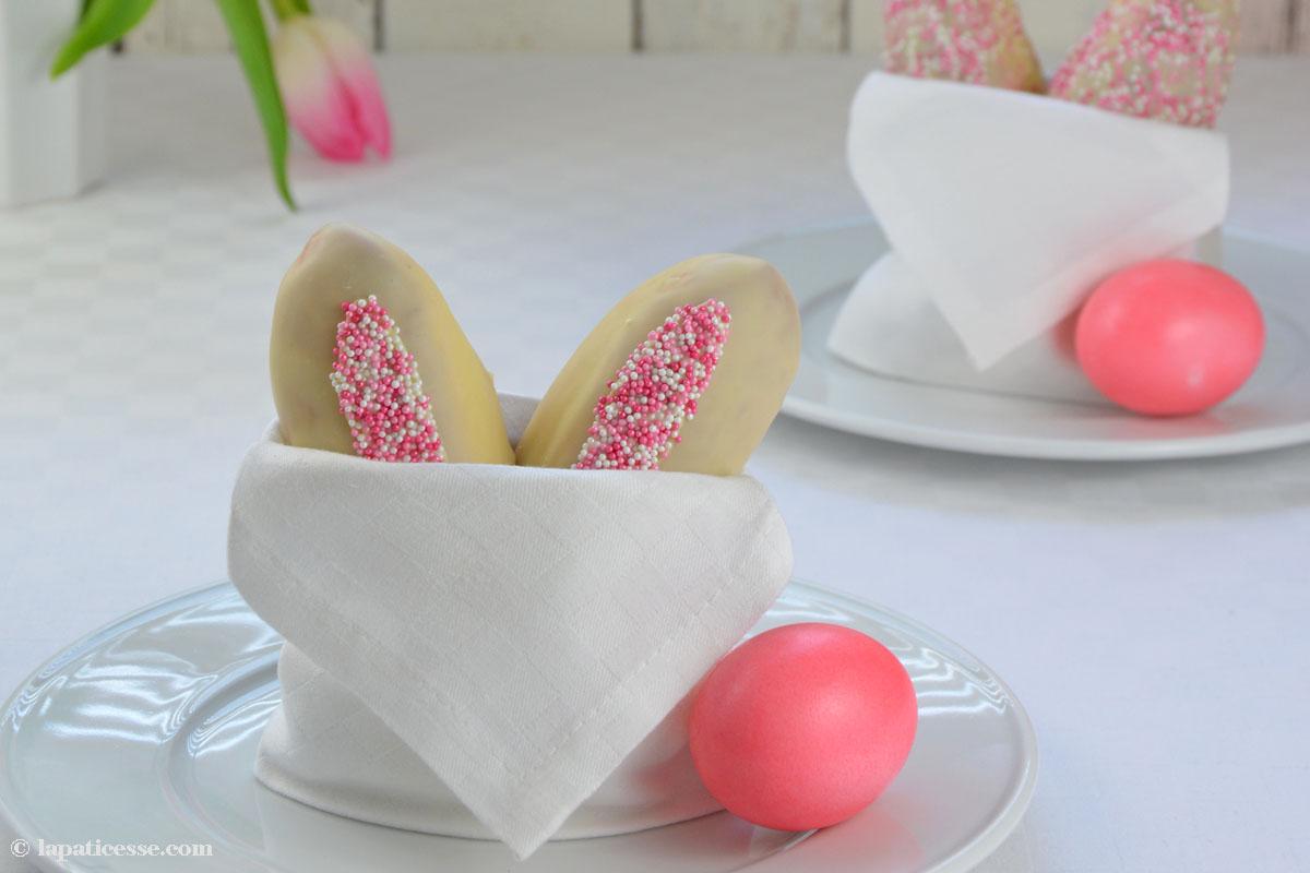 Lapin au chocolat Weiße Osterhasen Rezept