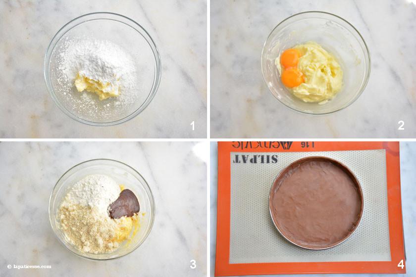 Tarte au chocolat café Zubereitung 1-4