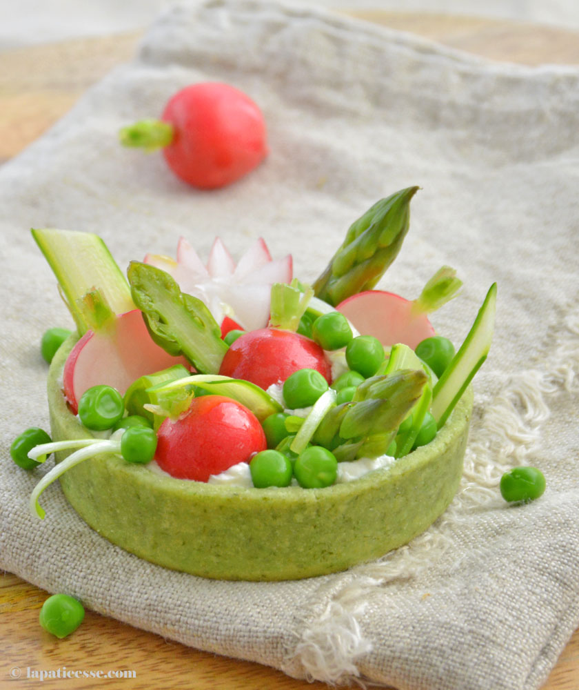 Tartelettes aux légumes de printemps Bärlauch Mürbeteig