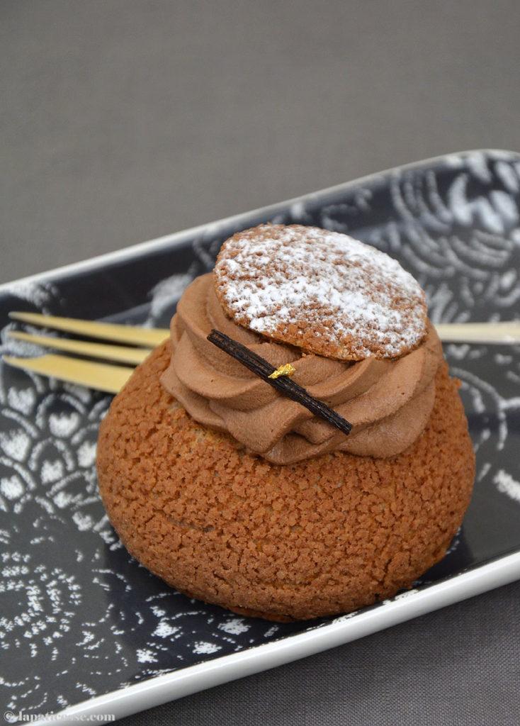 Choux tout chocolat Rezept Schokoladen-Windbeutel Vanille
