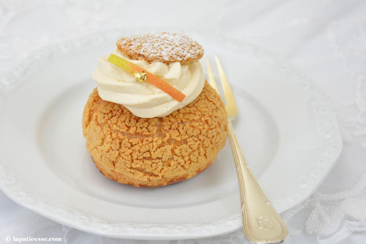Choux au caramel beurre salé et poire Windbeutel mit Karamell und Birne Rezept