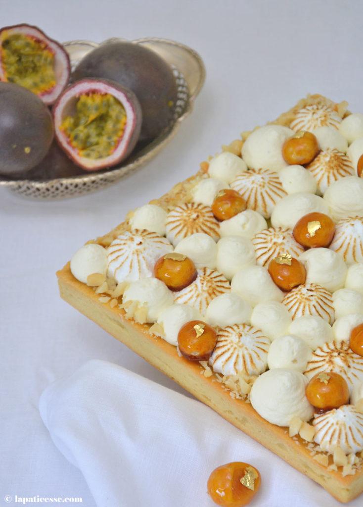 Tarte caramel des tropiques Tropische Karamell-Tarte mit Passionsfrucht Rezept Maracuja
