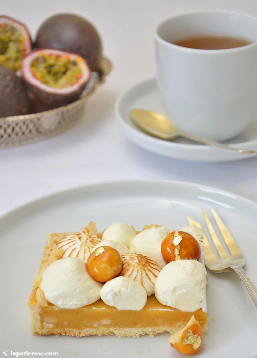 Tarte caramel des tropiques Karamell-Tarte mit Passionsfrucht Rezept Tasse