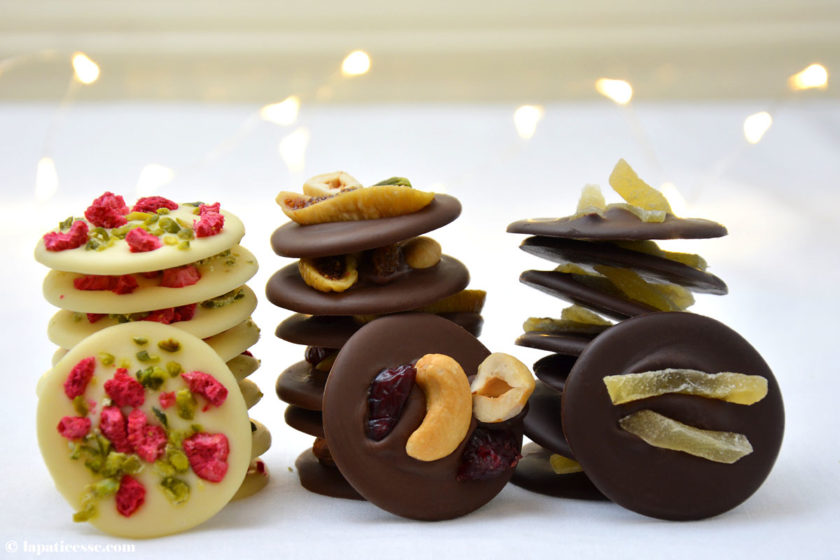 Mendiants au chocolat Rezept Schokoladentaler aus der Provence