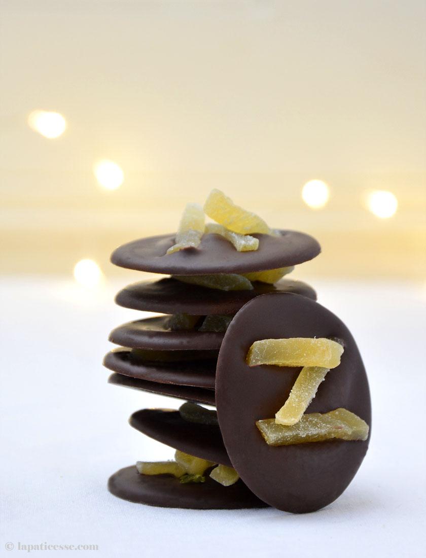 Mendiants au chocolat Rezept Zartbitter Ingwer
