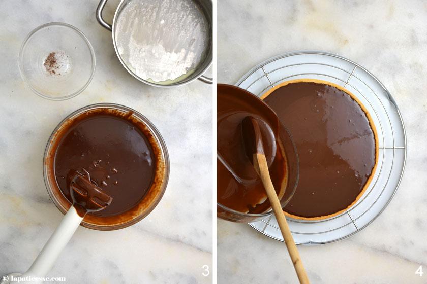 Tarte au chocolat et fruits secs Rezept Zubereitung 2
