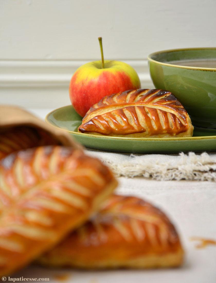 Chaussons aux pommes französische Apfeltaschen Rezept Apfel