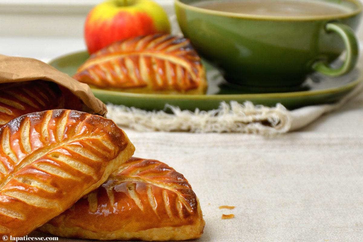 Chaussons aux pommes französische Apfeltaschen Rezept Blätterteig