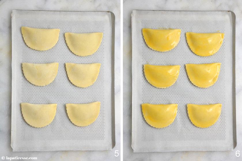 Chaussons aux pommes französische Apfeltaschen Rezept Zubereitung 3