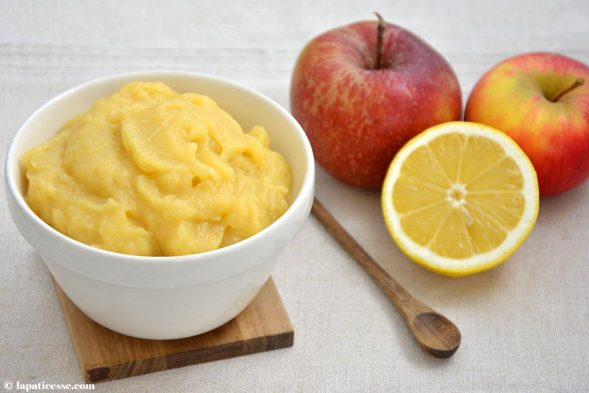 Compote de pommes Apfelkompott für die Pâtisserie Rezept Äpfel