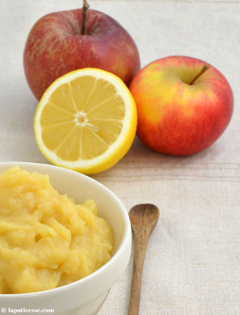 Compote de pommes Apfelkompott für die Pâtisserie Rezept Butter