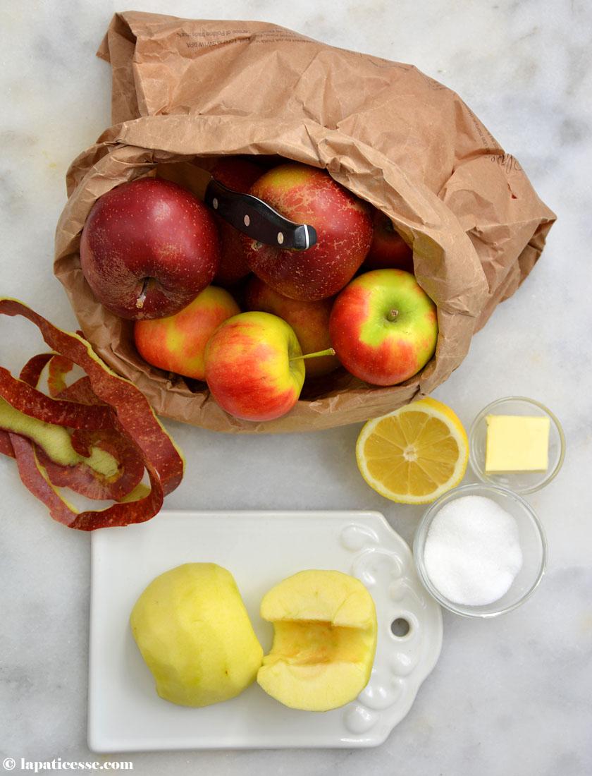 Compote de pommes Apfelkompott für die Pâtisserie Rezept Zubereitung 1