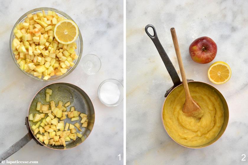 Compote de pommes Apfelkompott für die Pâtisserie Rezept Zubereitung 2