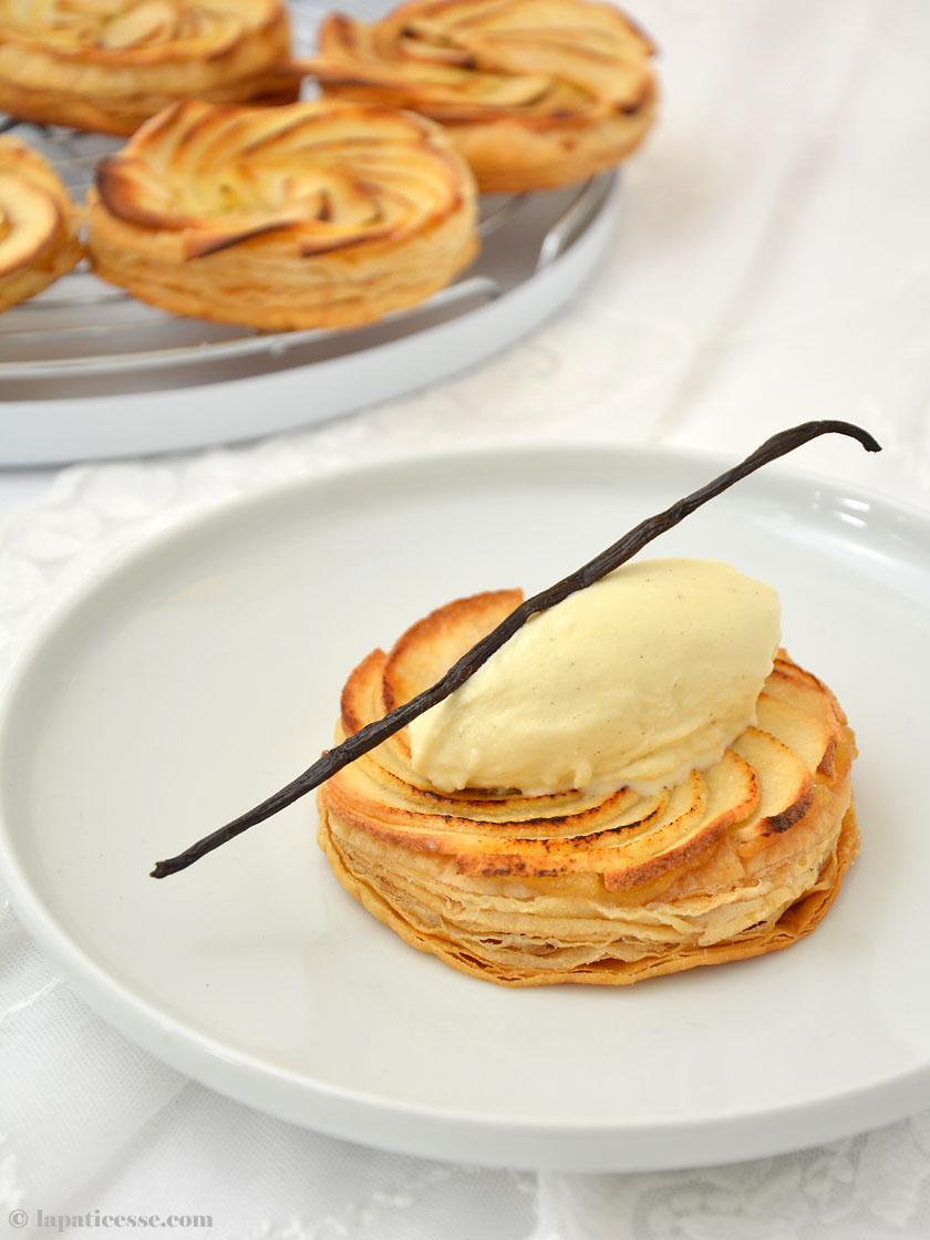 Tarte fine aux pommes Feine Apfeltarte Blätterteig Rezept