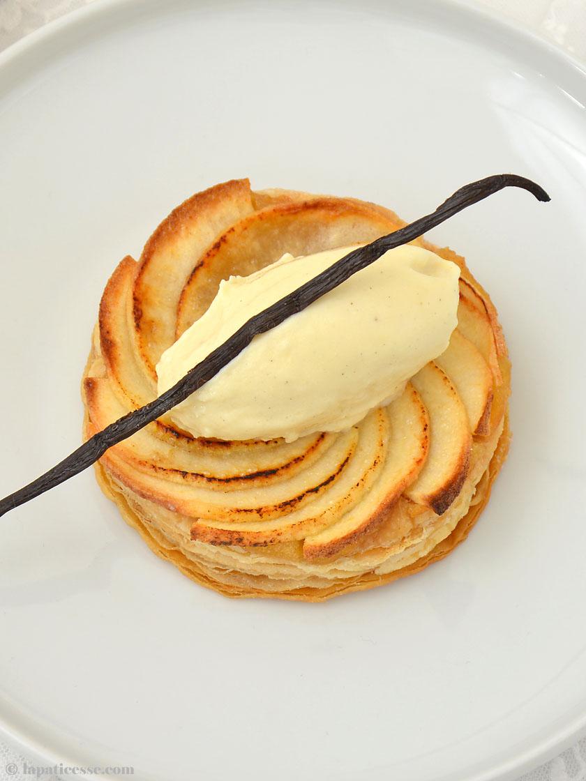 Tarte fine aux pommes Feine Apfeltarte Bourbon Vanille Rezept