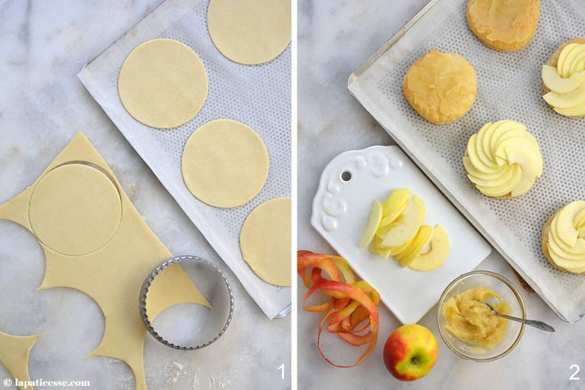 Tarte fine aux pommes Feine Apfeltarte Zubereitung Blätterteig