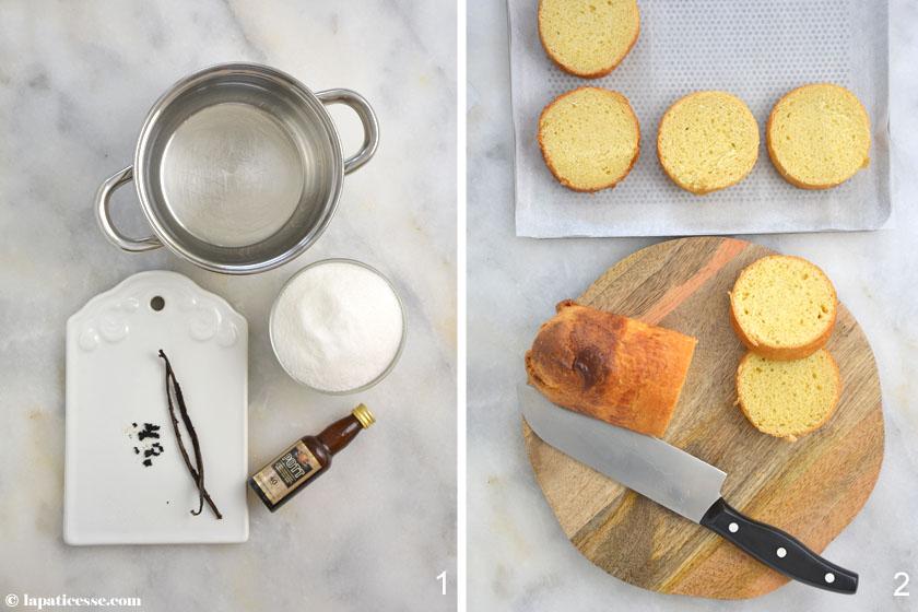 Bostock Rezept Brioche Mousseline Frangipane überbacken Zubereitung 2