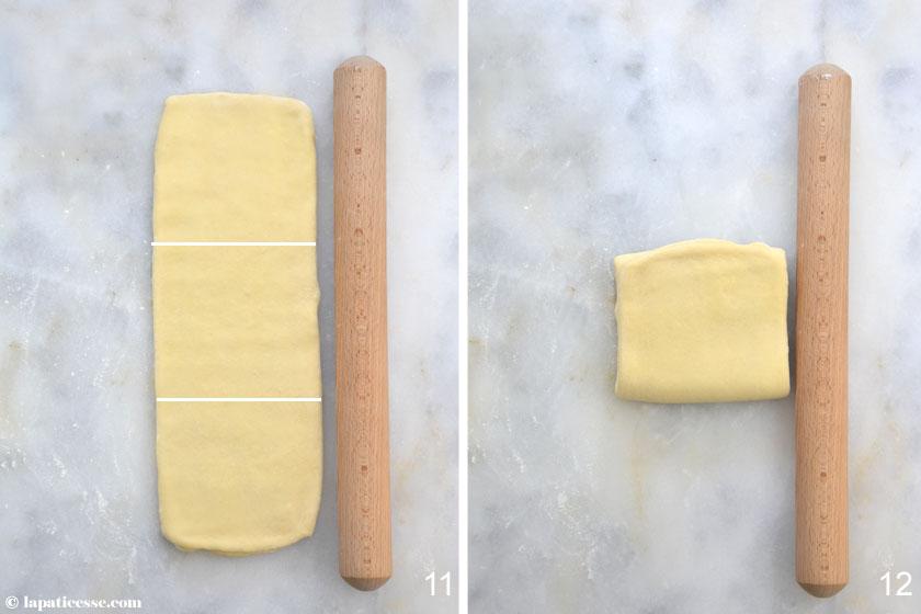 Brioche feuilletée Grundrezept Rezept Zubereitung Blätterteig 6