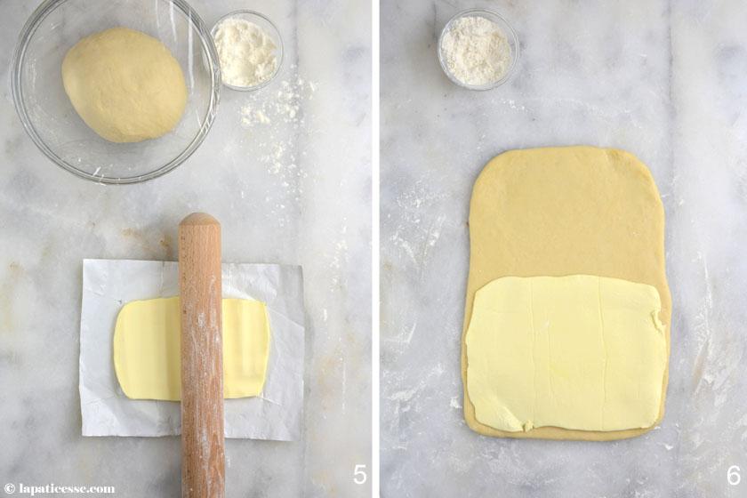 Brioche feuilletée Grundrezept Rezept Zubereitung Butter 3