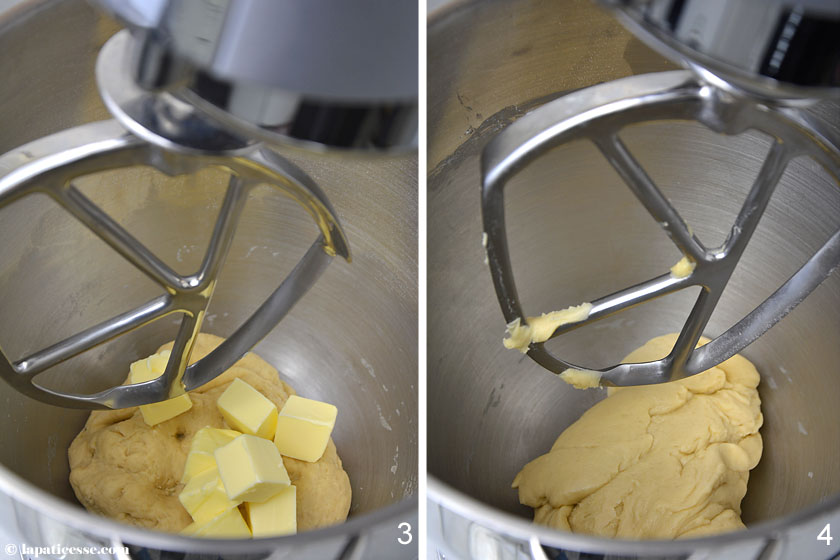 Brioche feuilletée Grundrezept Rezept Zubereitung Teig 2