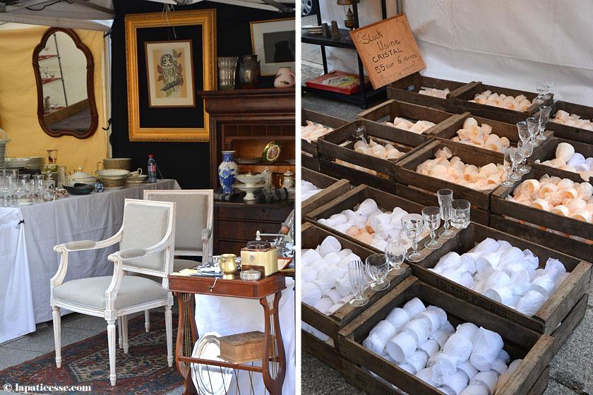 Paris Antik Flohmarkt Oberkampf Geschirr Porzellan