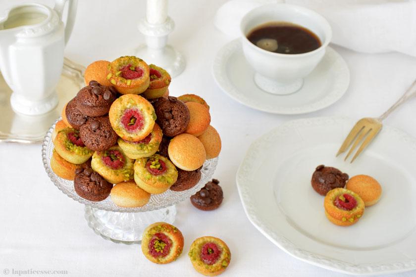 Pomponettes französisches Rezept Financiers Schokolade Pistazie Himbeer Rosenthal Vanille