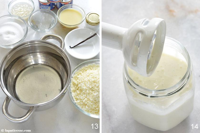 Tarte Sissi Rezept Zubereitung Glacage Miroir blanc Glanzglasur 7