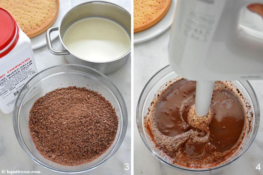 Tarte au chocolat Rezept Zubereitung Ganache französische Schokoladentarte