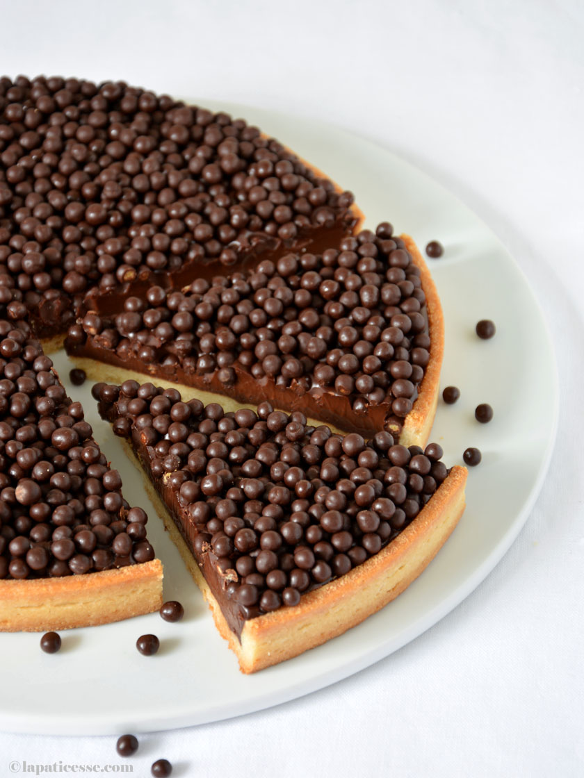 Tarte au chocolat Rezept französische Schokoladentarte mit Ganache