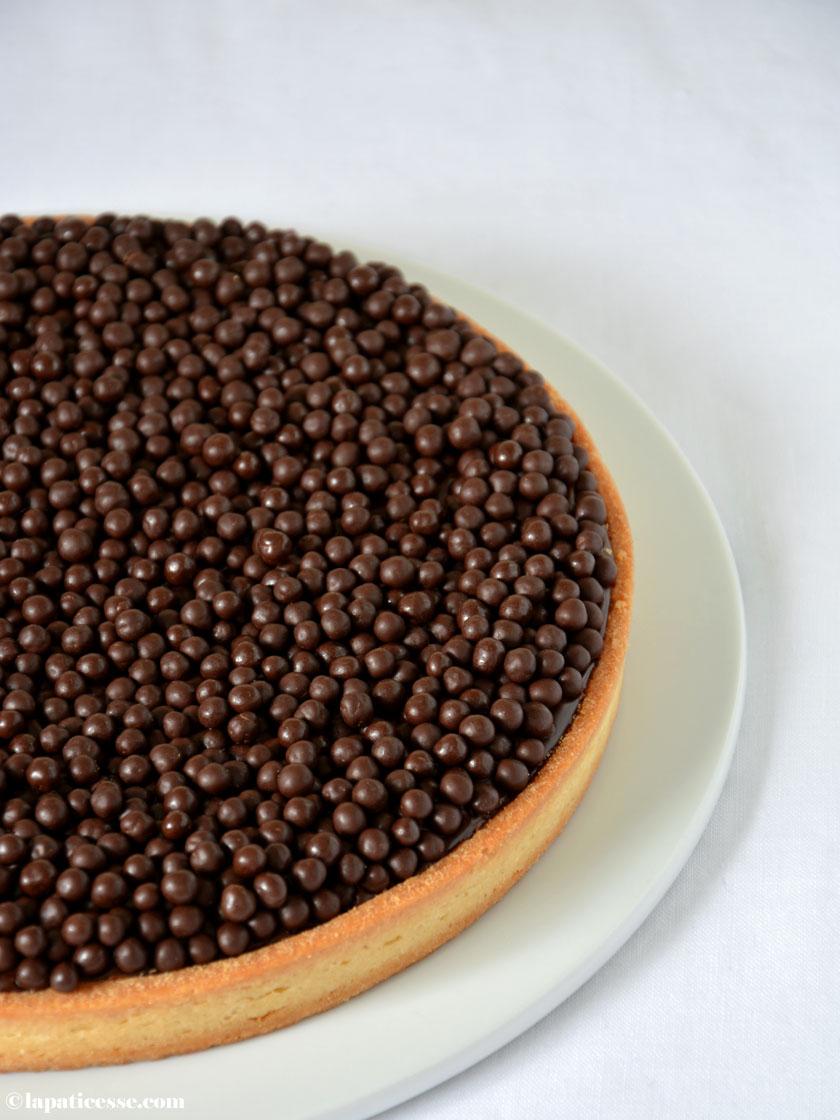 Tarte au chocolat Rezept französische Schokoladentarte Callaebaut Crisppearls