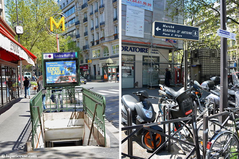 Ein Tag in Paris Metro Lecru-Rollin Marche Beauvau