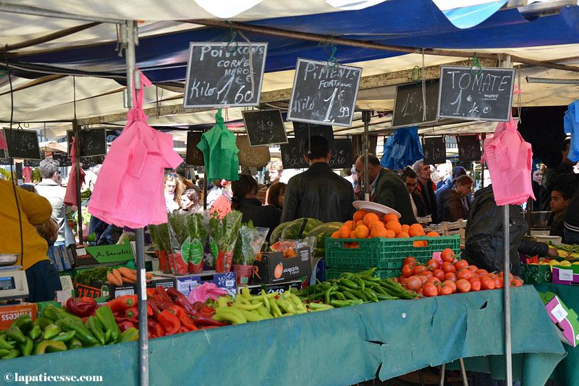 Paris Marche Beauvau Place d'Aligre Shopping Tipp Märkte Gemüse