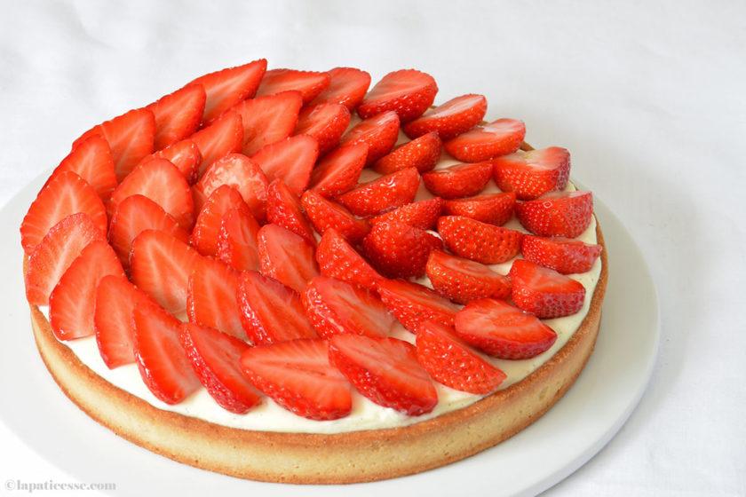 Tarte aux fraises à la crème mascarpone Erdbeertarte mit Mascarpone Rezept