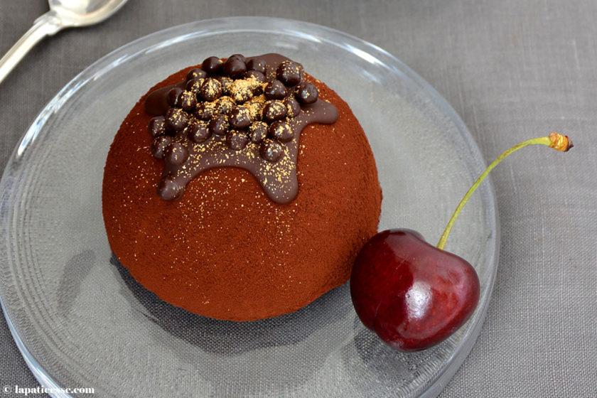 Bombe glacée au chocolat noir Schokoladen-Eisbombe Rezept Schokoladeneis