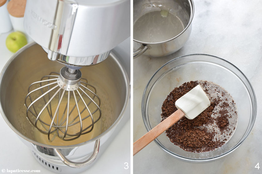Bombe glacée au chocolat noir Schokoladen Eisbombe Rezept Zubereitung Ganache
