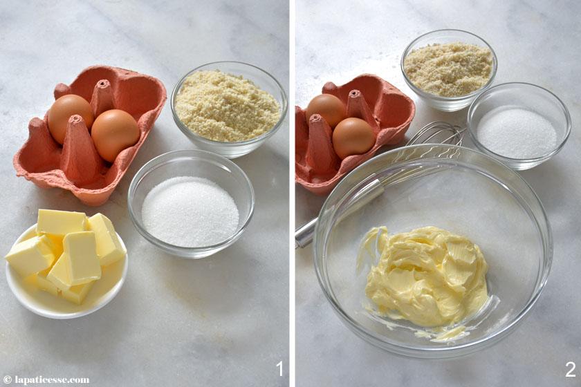 Crème d'amande Rezept französische Mandelcreme Zubereitung 1