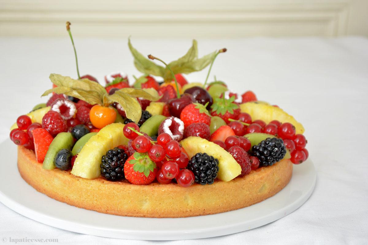 Französische Früchte-Tarte Rezept Tarte Corbeille de fruits
