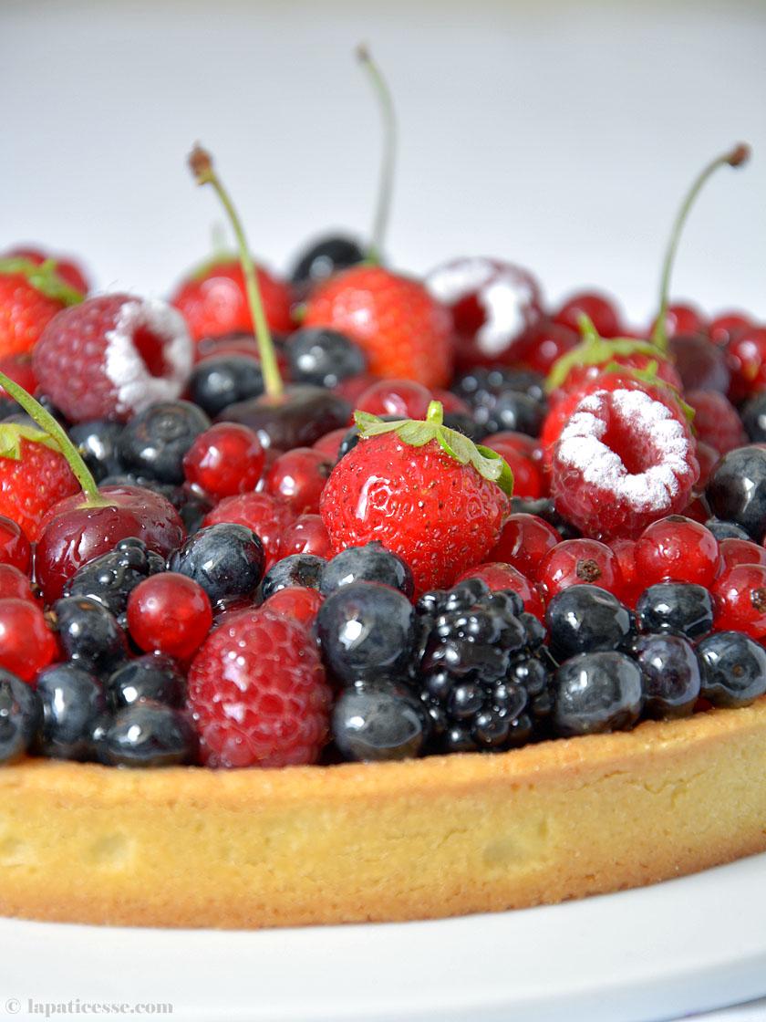 Tarte aux fruits rouges Rezept Rote Früchte-Tarte Gebäck