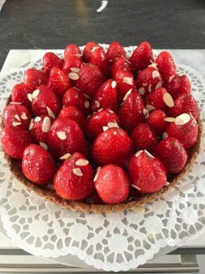 französische Erdbeertarte