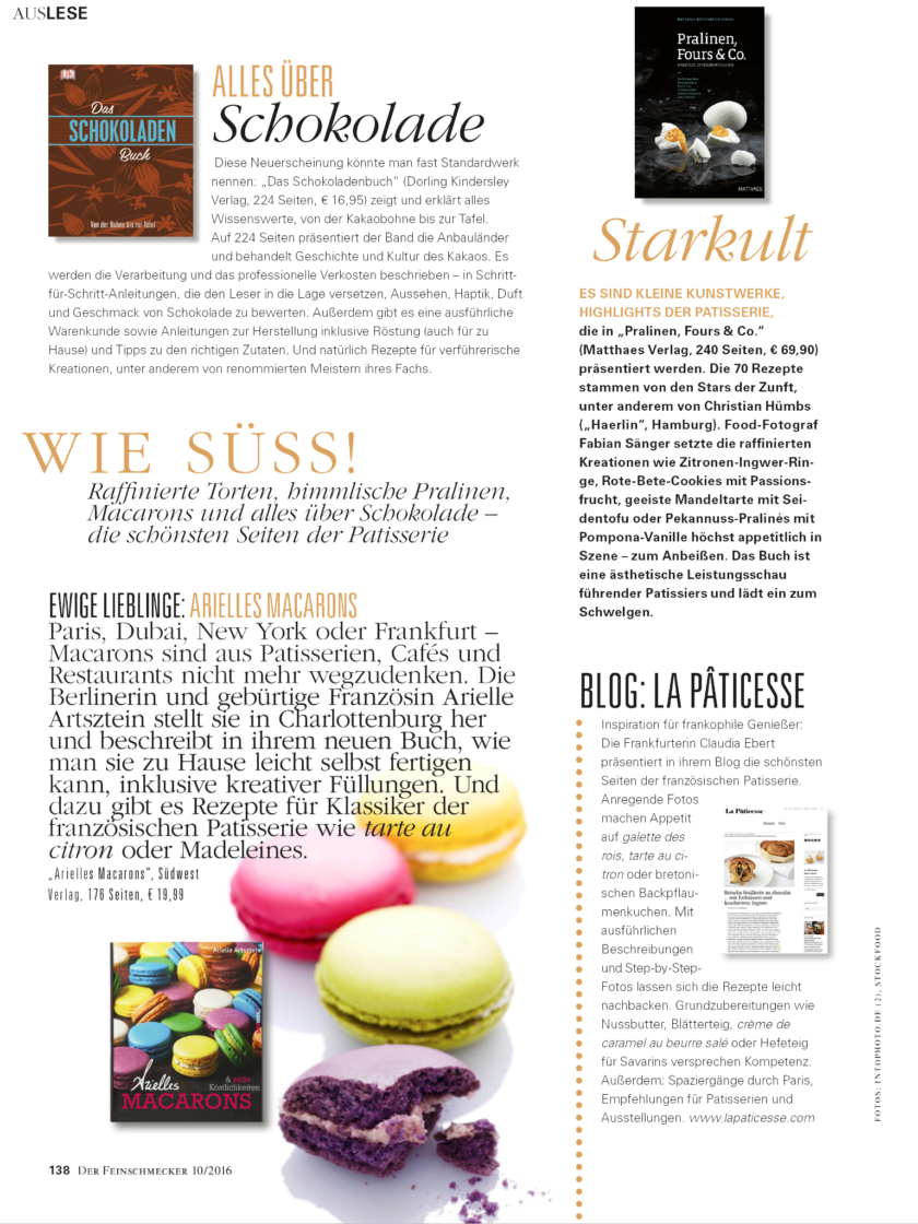 La Pâticesse der Patisserie Blog in Der Feinschmecker