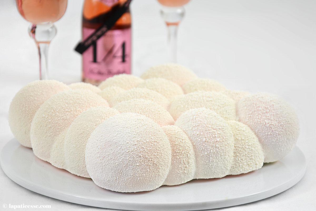 Entremets Nuage d'Ispahan Champagner-Torte Rezept Cloud Silikomart Himbeer Litschi Pierre Herme Titel