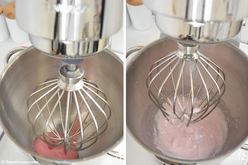 Nuage Ispahan Entremets Cloud Silikomart Rezept Champagner Himbeer Litschi Zubereitung 11-12