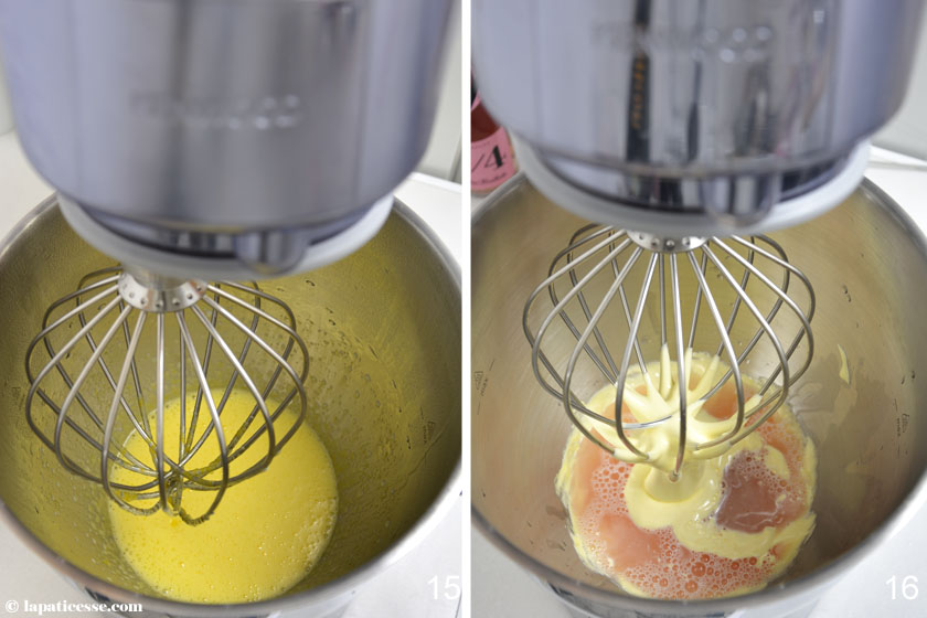 Nuage Ispahan Entremets Cloud Silikomart Rezept Champagner Himbeer Litschi Zubereitung 15-16
