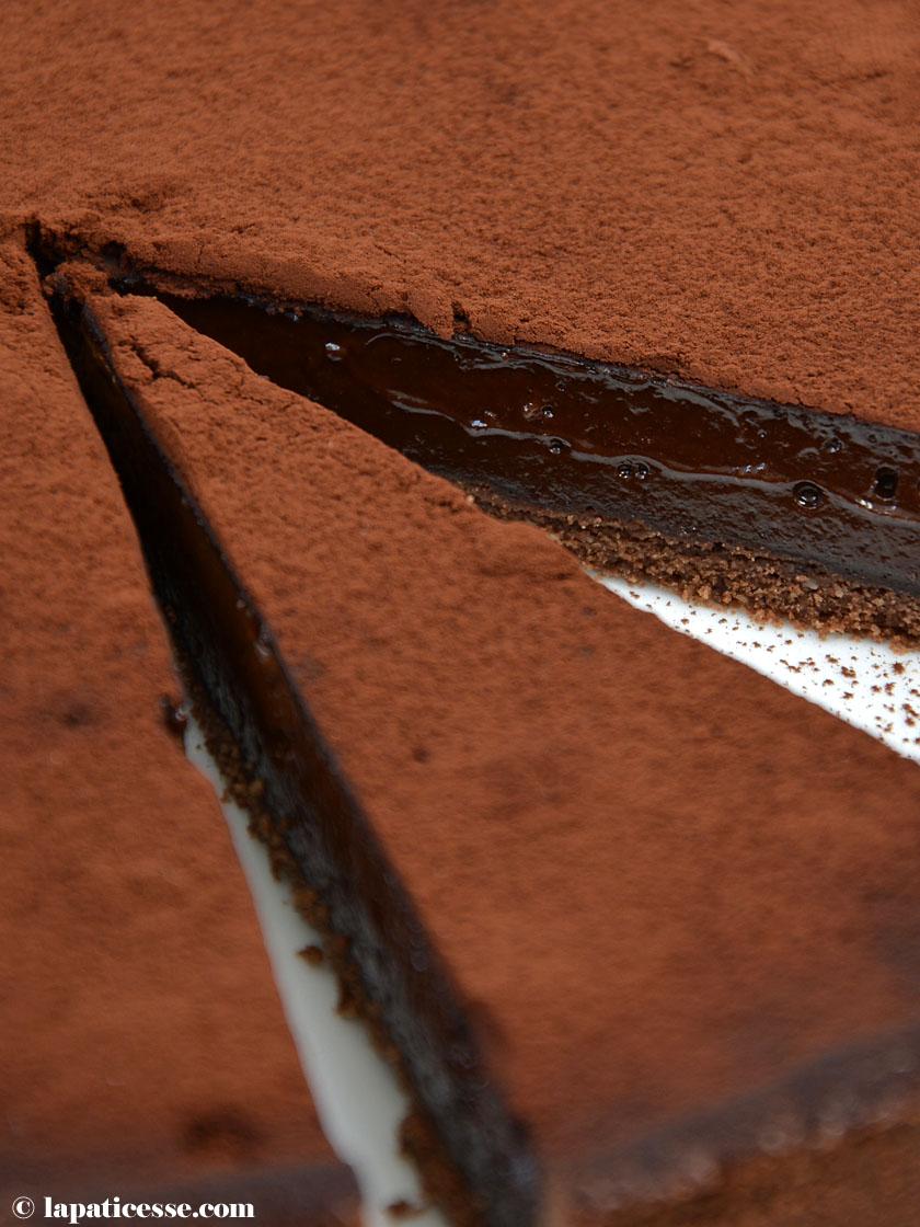 Warme Schokoladentarte Rezept Tarte tiède au chocolat noir Kakopulver