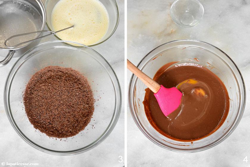 Warme Schokoladentarte Rezept Tarte tiède au chocolat noir Zubereitung 2