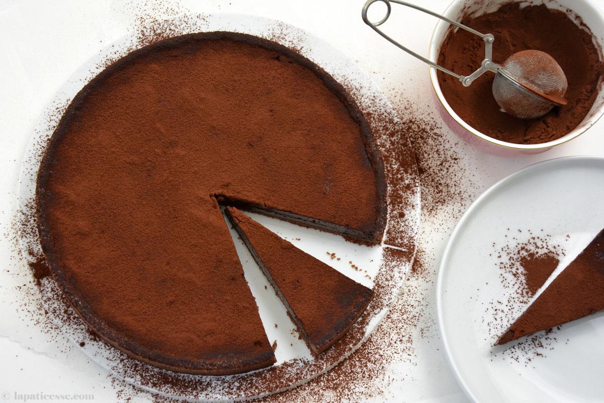 Warme Schokoladentarte Rezept Tarte tiède au chocolat noir französische