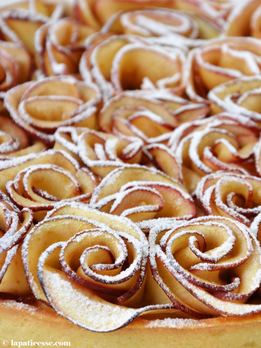 Apfelrosen Rezept französischer Apfelkuchen