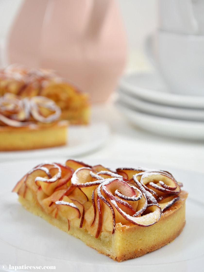 Bouquet de roses Tarte aux pommes Apfelrosen-Tarte Rezept französischer Apfelkuchen